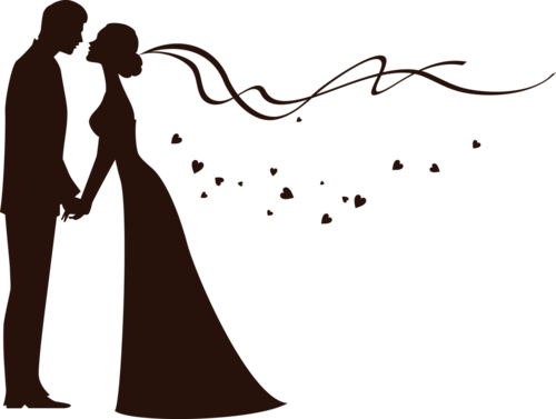 Forgetmenot Bride And Groom Silhouettes