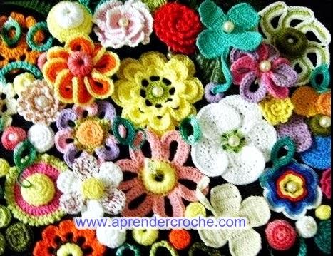 100 flores de croche gratis no blog aprender croche