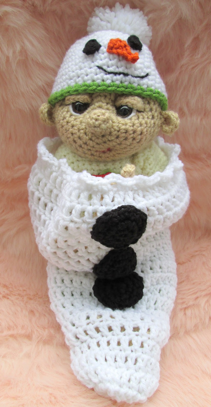 Teris Blog Free So Cute Baby Snowman Hat And Cocoon Crochet Pattern