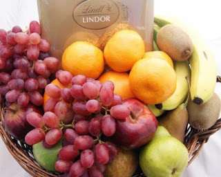 Gorgeous Fruit Basket filled with fresh seasonal fruit