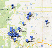 Boulder-Longmont Area Colorado Brewery Map