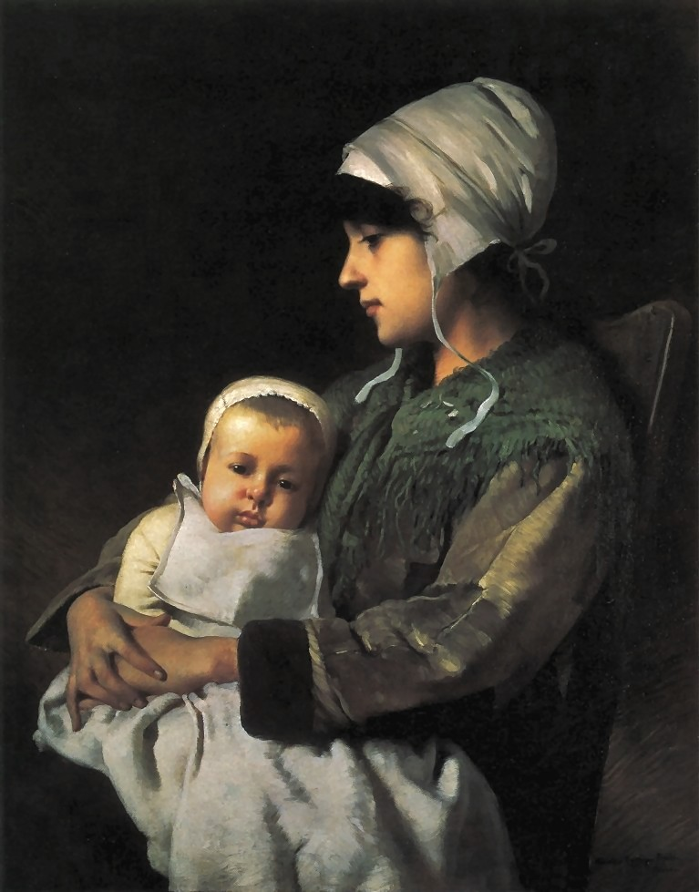 Charles  Sprague  Pearce  mother  and  child