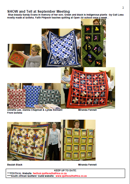 Quilt Guild Newsletter Ideas : Tollgate Quilters Guild: October Newsletter