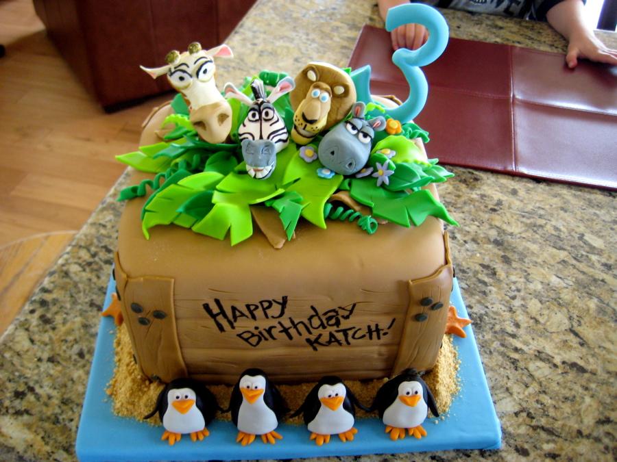 Madagascar Cake Design