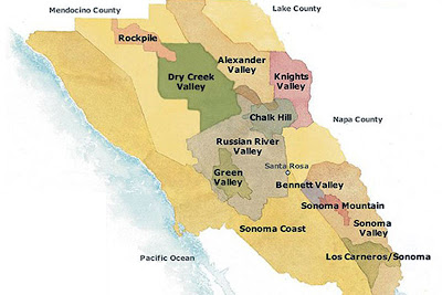 map wine country sonoma california russian river