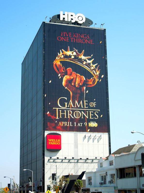 Giant Game of Thrones season 2 billboard