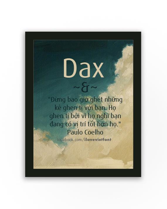 [Sans-serif] VNF Dax Việt hóa