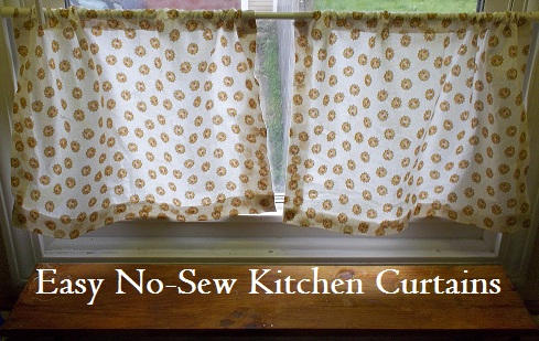 The Thriftiness Miss: Easy No-Sew Kitchen Curtains