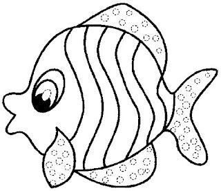 Desenhos Para Pintar Peixinho Abrindo a Boca