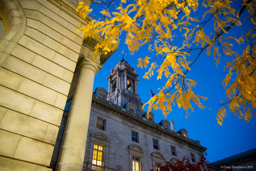 Fall at Portland, Maine USA City Hall 389 Congress Street. October 2015. Photo by Corey Templeton.
