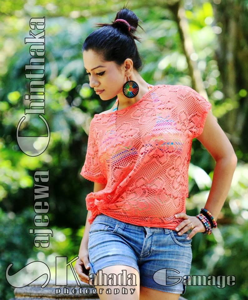 Nadeeshani Nilukshi blue shorts