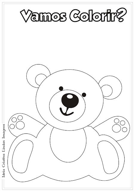 Urso de Pelúcia desenho para colorir