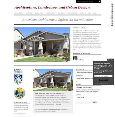 Portada de blog de arquitectura residencial norteamericana