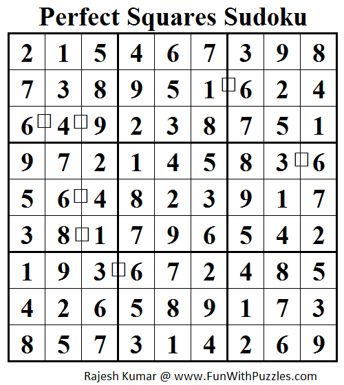Perfect Squares Sudoku (Daily Sudoku League #82) Solution