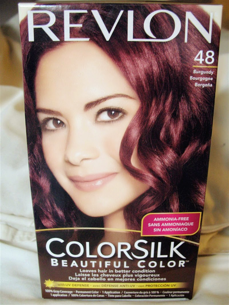 jello-ca: Revlon Colorsilk Hair Dye Review in Burgundy #48