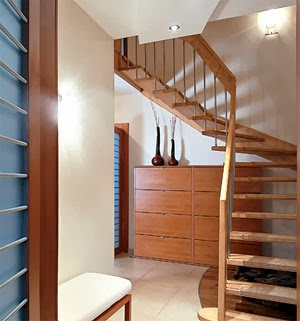 wood space saver stairs