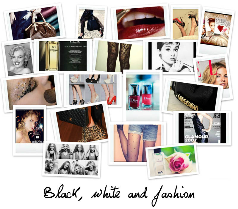 Black, white and fashion