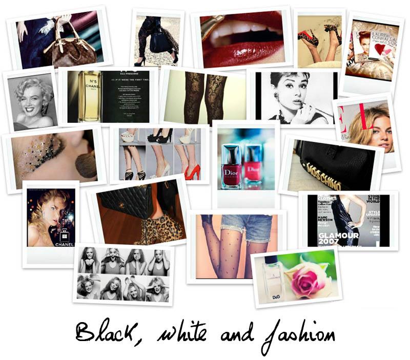 Black, white and fashion