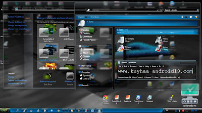 THEME WINDOWS 7 AQUAV2 BLUE