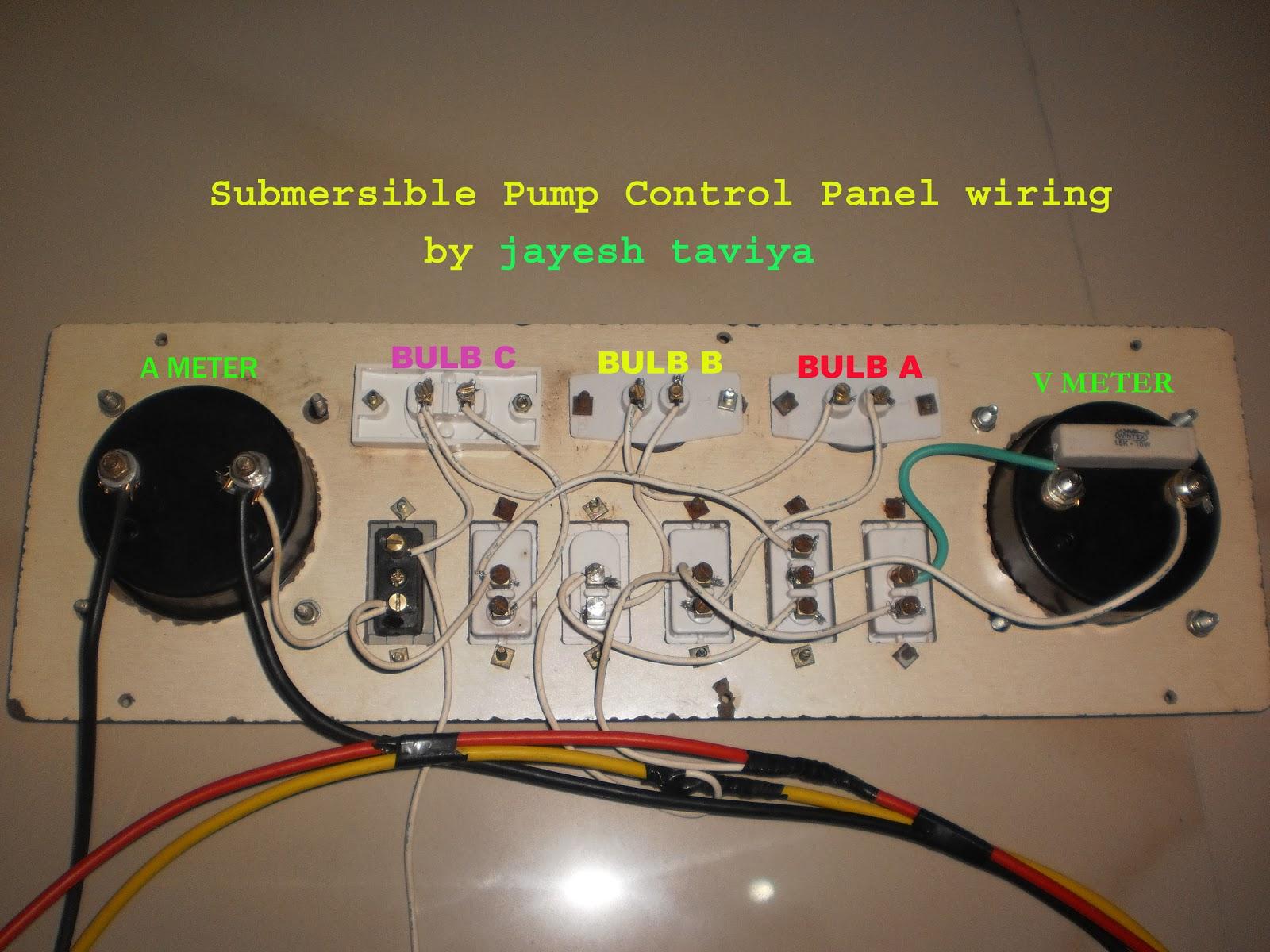 Submersible Pump Control Panel Wiring Jayesh Taviya