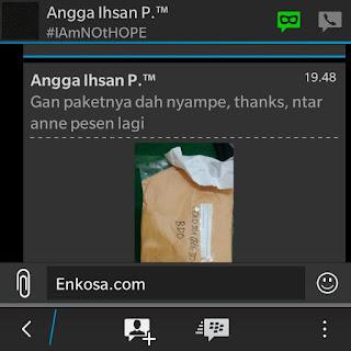 gambar screenshot Testimoni Angga Ihsan di enkosa sport toko online terpercaya di enkosa sport lokasi di pasar tanah abang jakarta pusat