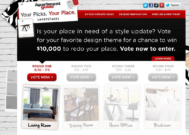 Apartment Guide Partners With Bloggers For A Style Update Contest