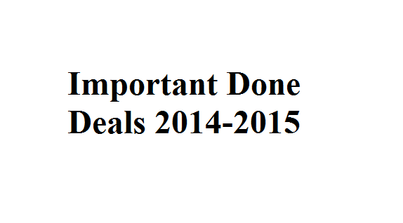 Important Done Deals 2014-2015