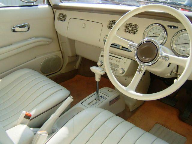 Nissan Figaro, FK10, JDM, turbo, retro, pike car, limited, unique, classic, japoński, stary, samochód, unikalny, klasyczny, zegary, gauges, wnętrze, interior, mały, 日産, 日本車, こくないせんようモデル, パイクカー