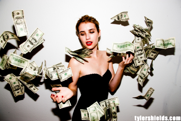 Tyler Shields, Emma Roberts, money, photographer