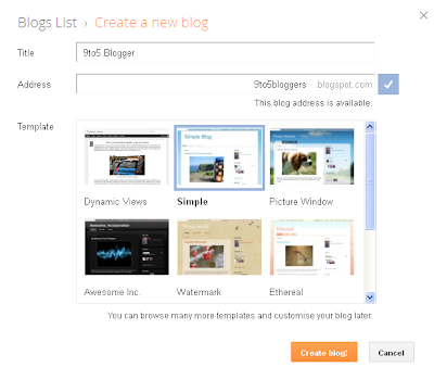 Create a Free Blogspot Blog