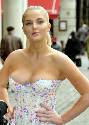 Helen Flanagan Cleavage Spills Out at Anti-Exotic Skins in London