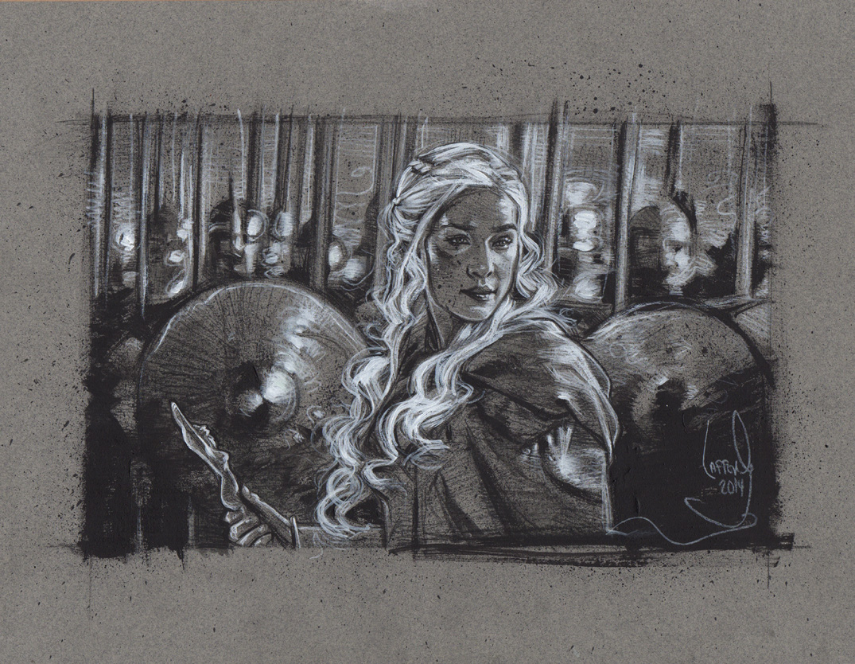 Daenerys Targaryen, Artwork is Copyright © 2014 Jeff Lafferty