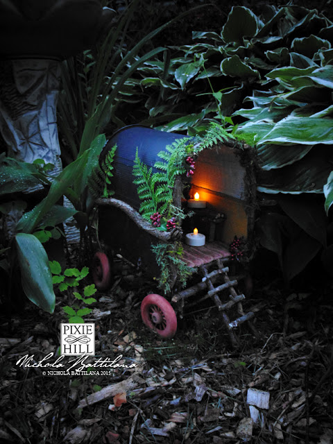 Travelling Fairy Caravan at Pixie Hill - Nichola Battilana