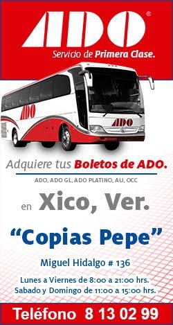 Venta de Boletos ADO  en Xico