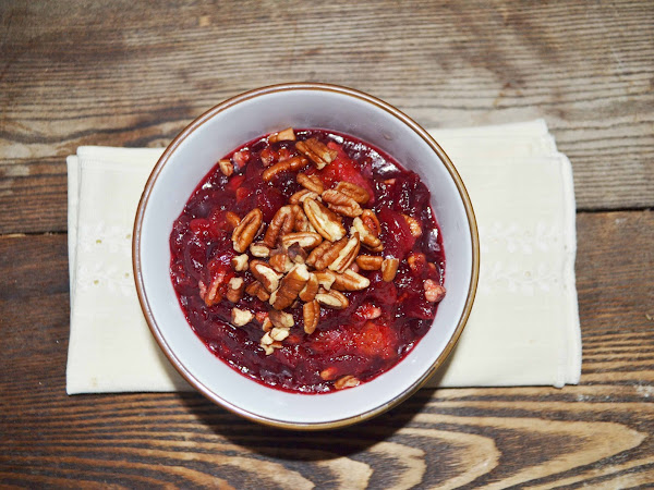 Maple Cranberry Tangerine Pecan Sauce (or relish, compote... whatever you want to call it sauce!)