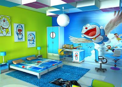 desain ruang tidur doraemon