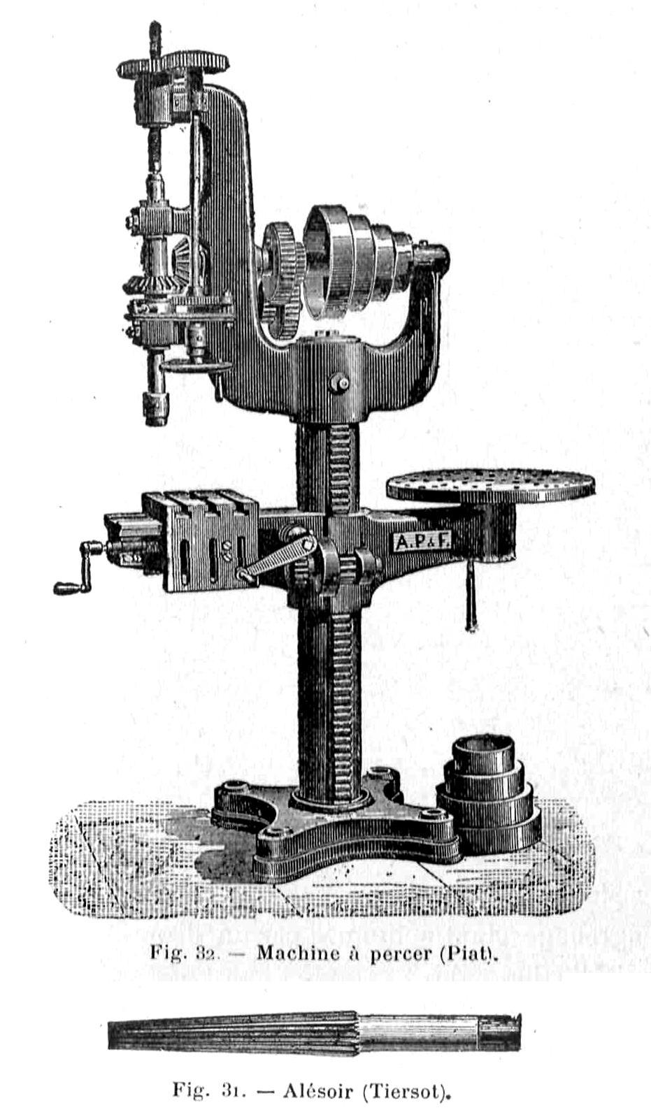 Alma de herrero m quinas herramientas de 1910 - Taladros de columna ...