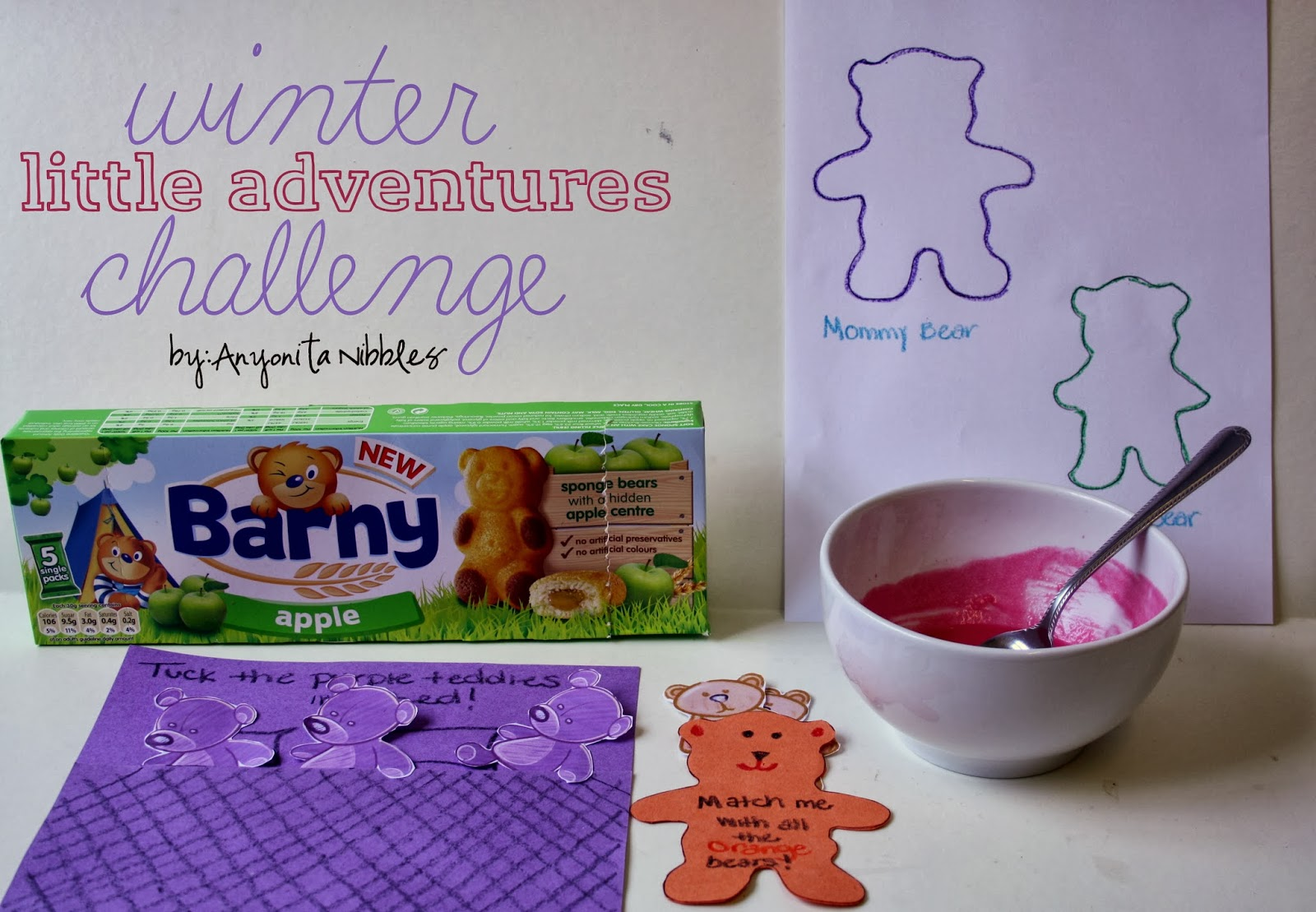 A winter #littleadeventures challenge with a bear theme