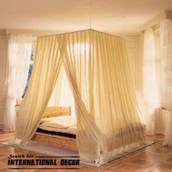 Four poster bed and canopy for romantic bedroom