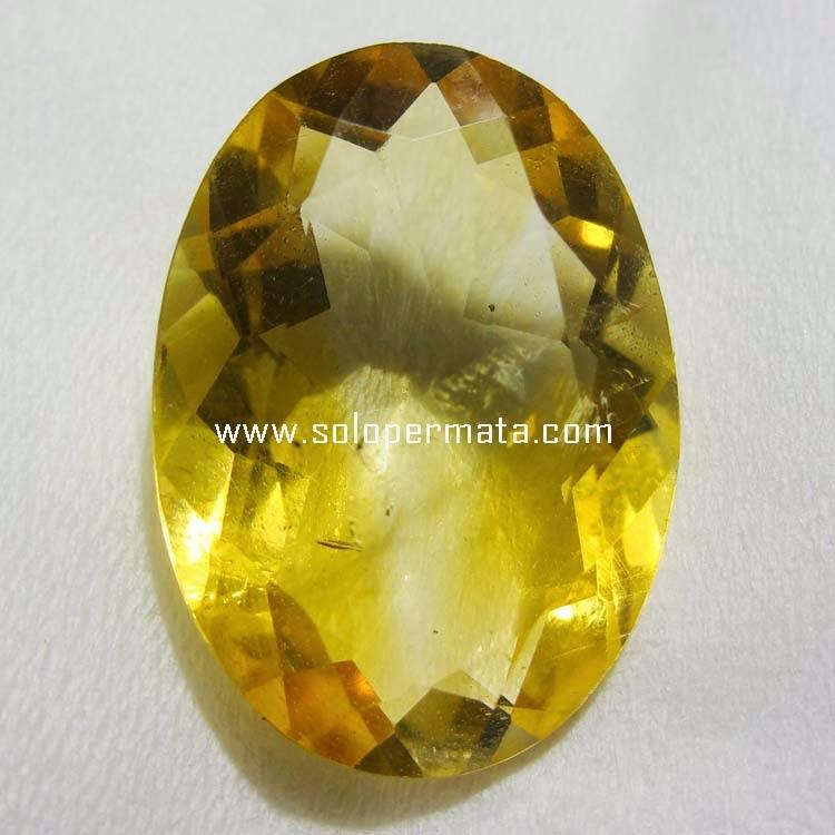 Batu Permata Yellow Citrine - Kode 17L06