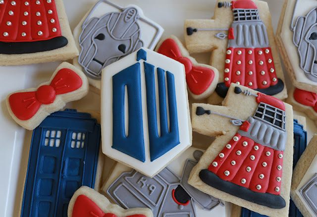 Dr Who cookies, dalek, cyberman, TARDIS
