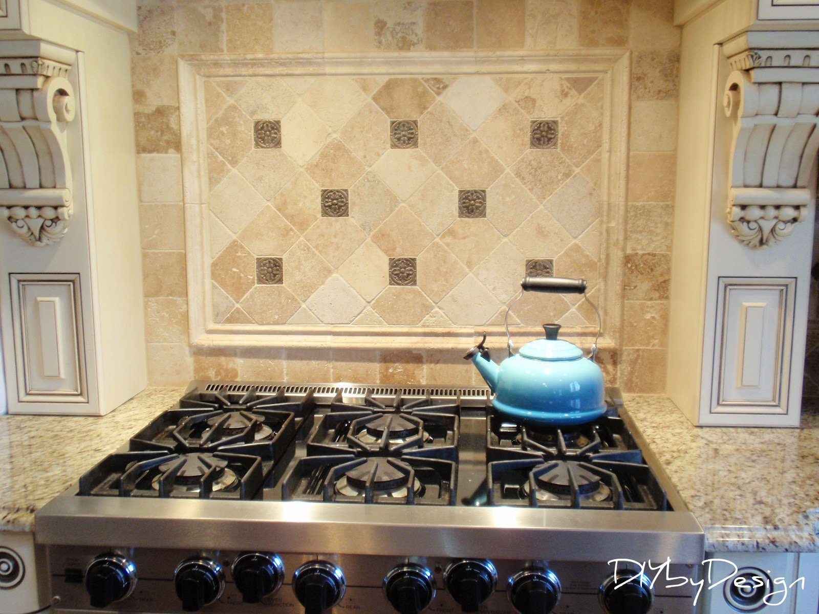 Tumbled Marble Kitchen Backsplash Diy By Design Tumbled Marble Coasters Tutorial