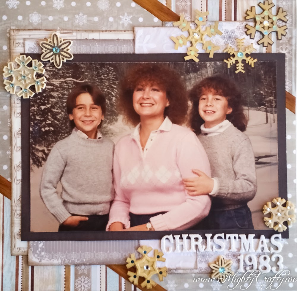 Christmas 1983 layout for Sketch N Scrap -- www.MightyCrafty.me