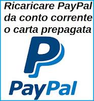 Come ricaricare il conto PayPal con bonifico da conto corrente o con carta prepagata