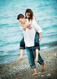 Couple Love Beach
