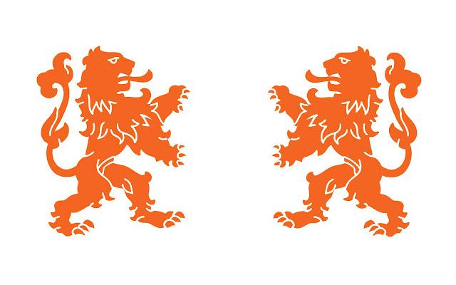 wite oranje leeuwen wallpaper