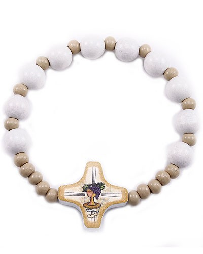 First Communion Crystal Beads Bracelets