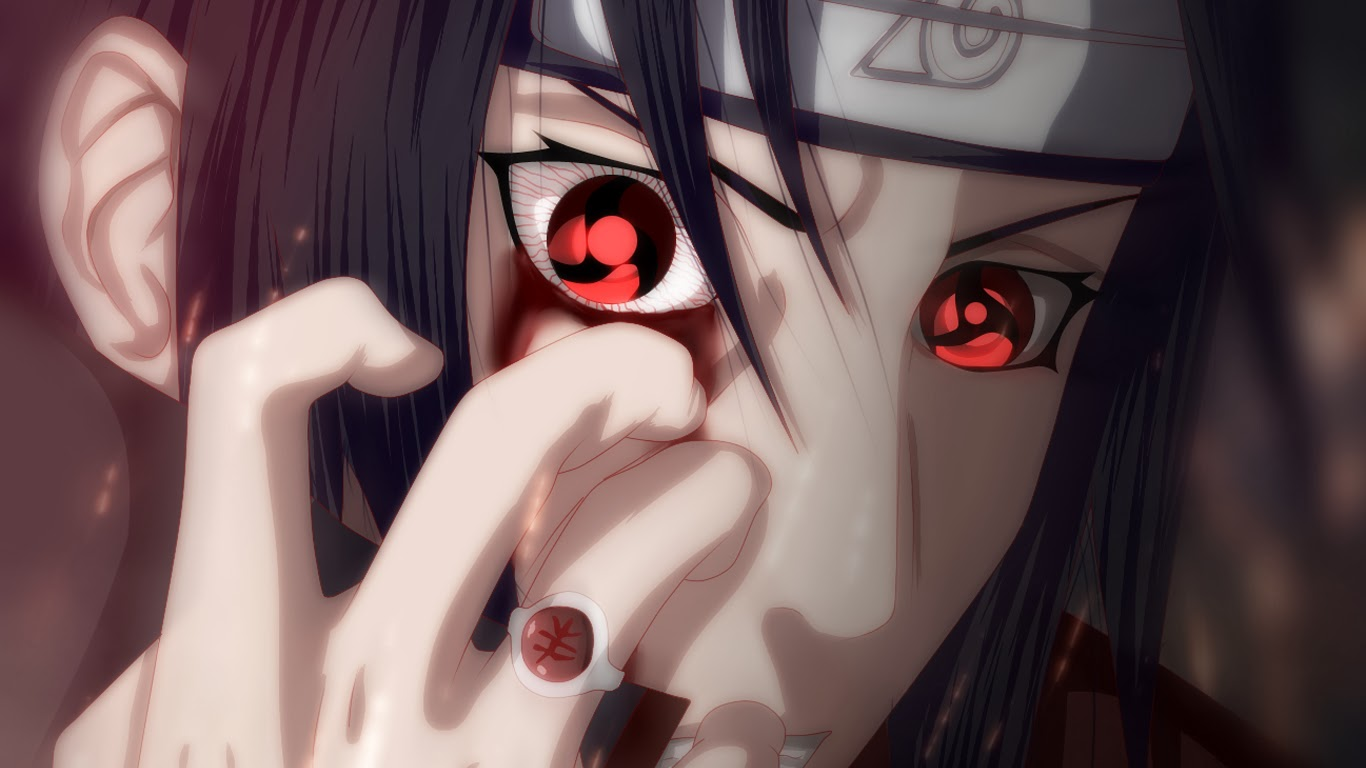 Itachi Sharingan Eyes Blood 0h Wallpaper HD