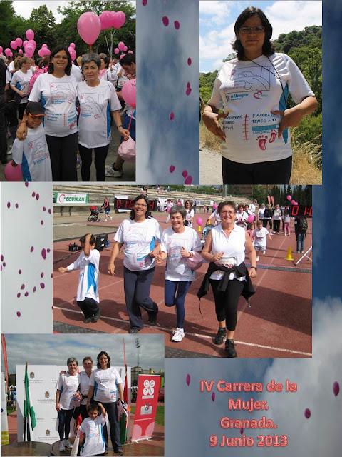 IV Carrera contra el cáncer de mama Granada. Odile Fernández