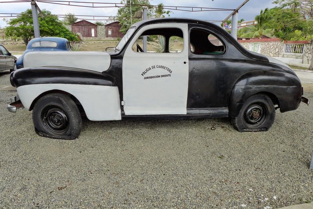Baracoa Car Museum vintage police car